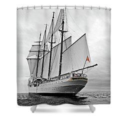 Juan Sebastian De Elcano In Its World Wild Travel Shower Curtain