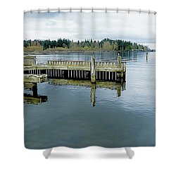 Juanita Bay In Gray Shower Curtain