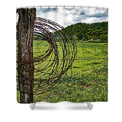 Shower Curtain featuring the photograph Judaculla Ranch by Mark Guinn