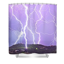 Judgement Day Lightning Shower Curtain