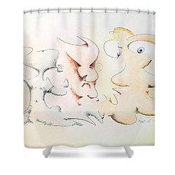 Judging Picasso Shower Curtain