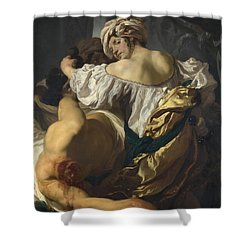 Judith In The Tent Of Holofernes Shower Curtain