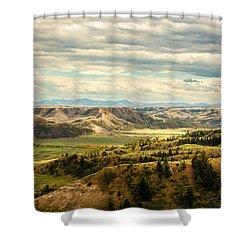 Judith River Breaks Shower Curtain