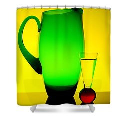Jug And Glass Shower Curtain