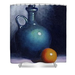 Jug And Orange. Shower Curtain