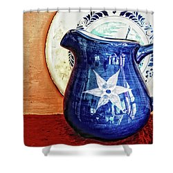 Jug Shower Curtain by Charuhas Images