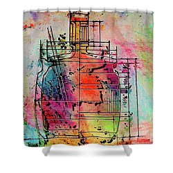 Jug Drawing Shower Curtain by Don Gradner