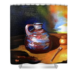 Jug Mug And Spoon Shower Curtain