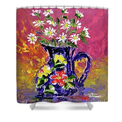 Jug Of Daisies Shower Curtain