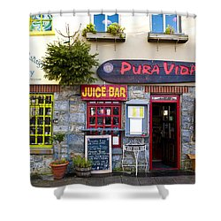 Juice Bar Shower Curtain by Rae Tucker