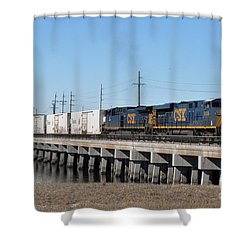 Shower Curtain featuring the photograph Juice Train by John Black