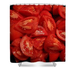 Shower Curtain featuring the photograph Juicy Tomatoes by Jeanette French