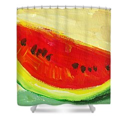 Juicy Watermelon - Kitchen Decor Modern Art Shower Curtain