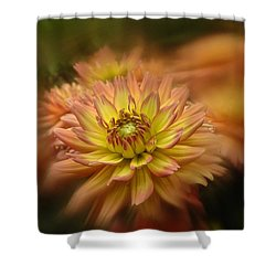 Juiy 2016 Dahlia Shower Curtain by Richard Cummings
