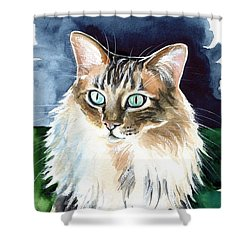 Juju - Cashmere Bengal Cat Painting Shower Curtain