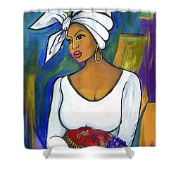 Shower Curtain featuring the painting Juju by Diane Britton Dunham