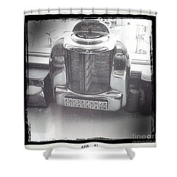 Juke Box Shower Curtain by Nina Prommer