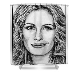 Julia Roberts In 2008 Shower Curtain by J McCombie