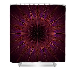 The Violet Blessings Of The Crown Chakra Shower Curtain
