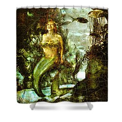 Devin.mermaid Shower Curtain by Nada Meeks