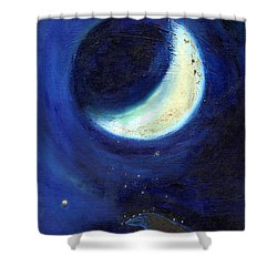 July Moon Shower Curtain by Nancy Moniz