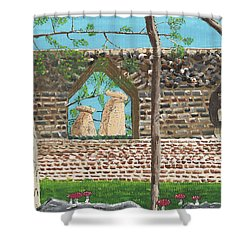July  Portal Of Enlightenment Shower Curtain