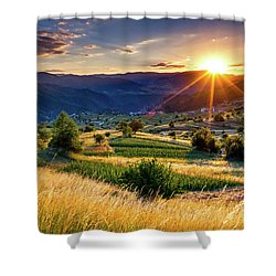 July Sun Shower Curtain by Evgeni Dinev