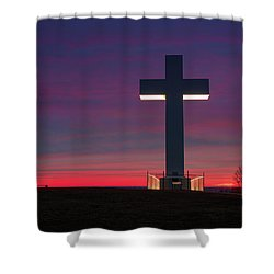 Jumonville Cross  Shower Curtain