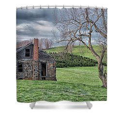 Junaluska Road Christmas Tree Farm Shower Curtain