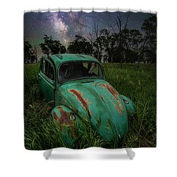 Shower Curtain featuring the photograph June Bug by Aaron J Groen