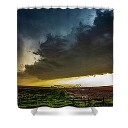 June Comes In With A Boom 005 Shower Curtain