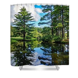 Shower Curtain featuring the photograph June Day At The Park by Kendall McKernon