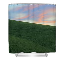 June Palouse Fields And Sky Shower Curtain