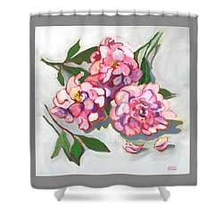 June Peonies Shower Curtain