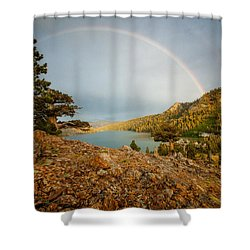 June Storm Over Echo Lake Shower Curtain