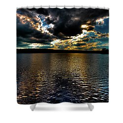 Shower Curtain featuring the photograph June Sunset On Nicks Lake by David Patterson