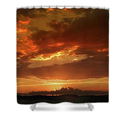 Shower Curtain featuring the photograph June Sunset by Rod Seel