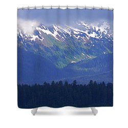 Juneau Landscape Shower Curtain by Warren Thompson