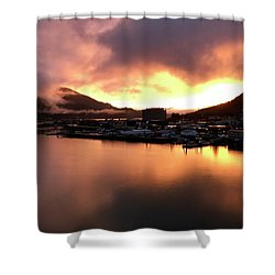 Juneau Sunset Shower Curtain