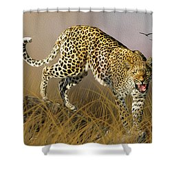 Shower Curtain featuring the photograph Jungle Attitude by Diane Schuster
