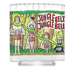 Jungle Bells Shower Curtain