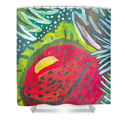 Shower Curtain featuring the painting Jungle Fruit by Artists With Autism Inc