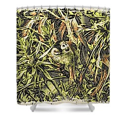 Jungle George Shower Curtain