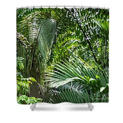 Jungle Green Shower Curtain by Roger Lighterness