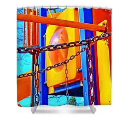 Jungle Gym Shower Curtain by Tobeimean Peter
