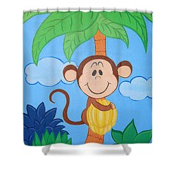 Jungle Monkey Shower Curtain