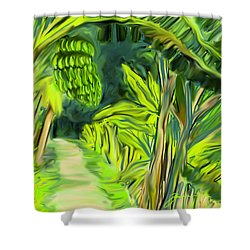 Jungle Path Shower Curtain by Jean Pacheco Ravinski
