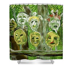 Jungle Spirits Shower Curtain by Jean Pacheco Ravinski