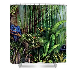 Jungle Talk Shower Curtain