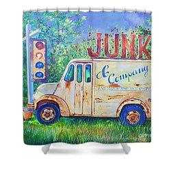 Junk Truck Shower Curtain